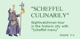 "Nightwatchman-tour  with menu / Restaurant ""Zum Viertele"" Bad Säckingen"